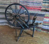 Swedish blue spinning wheel