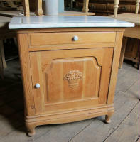 Charmant Antique Danish Small Cabinet With Marble Top