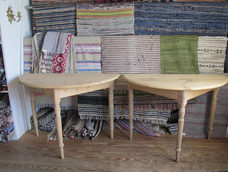 Antique Swedish Demi Lune Table ...
