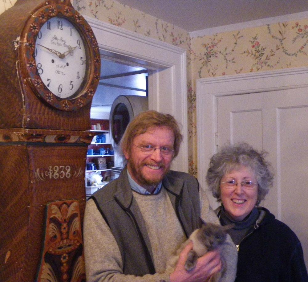 Shop Proprietors Janet and Borge - Swedish, Danish, Norwegian Antique Furniture And Clocks