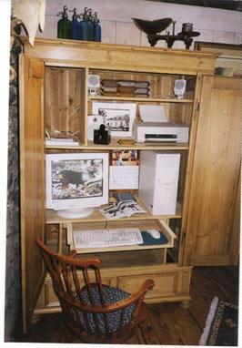 convert armoire to computer desk